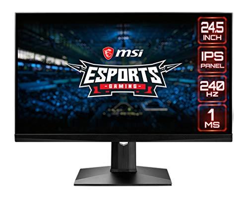 MSI Optix MAG251RX Esports Gaming Monitor 24,5 Zoll, 1920x1080, Full HD, 240Hz, 1ms, IPS Panel, FreeSync, G-Sync, HDR 400, schwarz