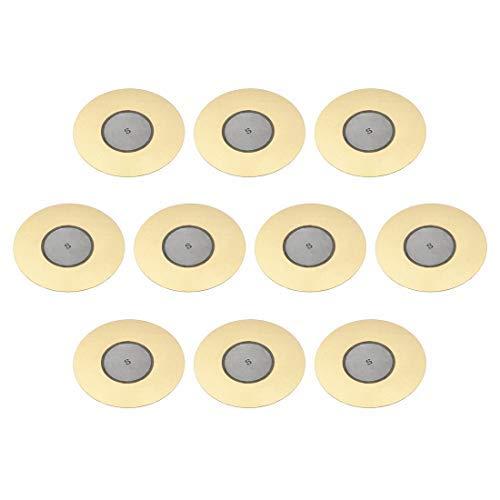 Piezoelektrische Schallplatten, 50 mm, Akustischer Sensor, Keramik, Trigger Buzzer, Schlagzeug, Gitarre, 10 Stück