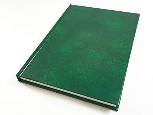中村印刷所 ナカプリバイン プレミアム 水平開きハードカバーノート A5 200頁 方眼5mm(グリーン)
