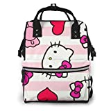 Hello Kitty Bolsa de pañales para mamá, multifunción, gran capacidad, mochila de viaje