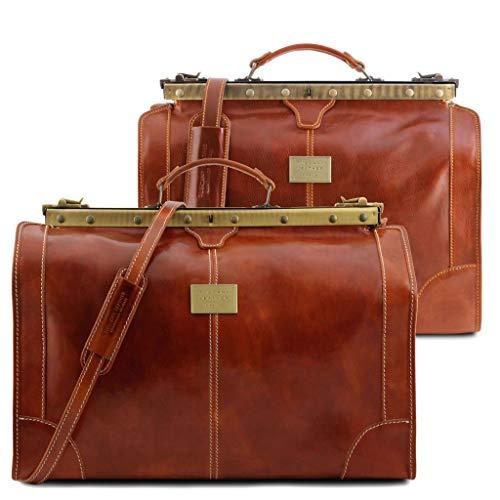 Italienisches Reise-Set Gladstone Taschen, honig (Braun) - TL1070