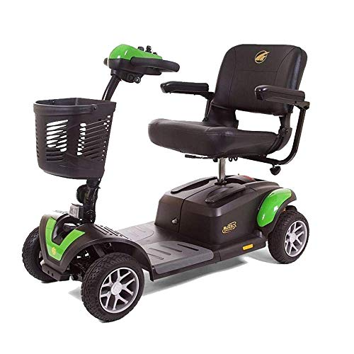 BUZZAROUND EX 4-Wheel Heavy Duty Long Range Travel Scooter Green, 20-Inch Seat