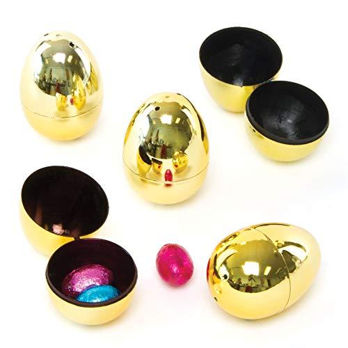 uova di pasqua apribili Baker Ross- Golden Easter Egg Lucky Dips