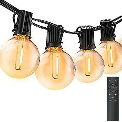 45M Catena Luminosa Esterno Dimmerabile, Bomcosy Luci da Esterno LED Catene Luminose per Esterni con 75+2, G40 Filo Lampadine Luminarie Lucine da Esterno Impermeabile per Terrazzo, Giardino, Balcone