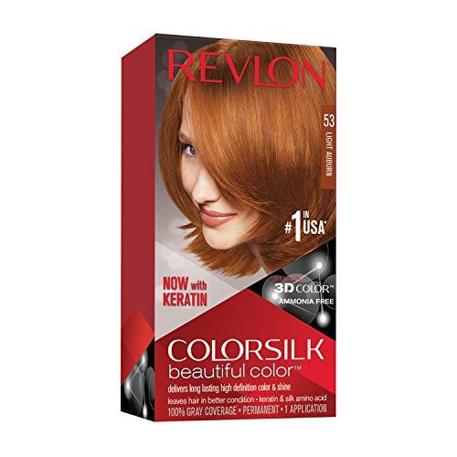 Revlon ColorSilk Haircolor, Light Auburn, 4.4 Ounces