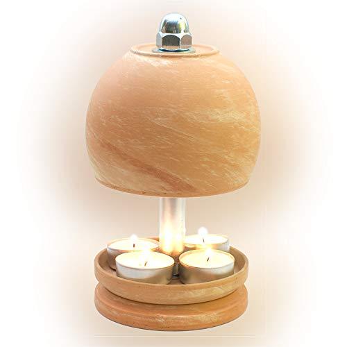 HP-TLO-Serie-K-M-L-21/11-4 Kerzen! Teelichtlampe Teelichthalter Teelichtofen Stövchen Meditationszubehör Kerzenhalter Teelichter + Feuerzeug GRATIS