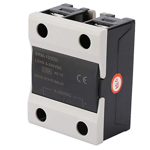 Relé de estado sólido, relé de estado sólido de control de CC, equipo electrónico de 3-32 V para termostato PID industrial de controlador de temperatura(BRM-100DD)