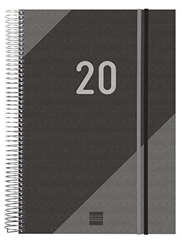 Finocam - Agenda 2020 1 día página Espiral Year Negro español