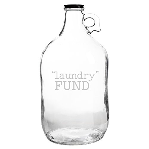 "Cathy's Concepts ""Laundry Fund"" Glass Growler"
