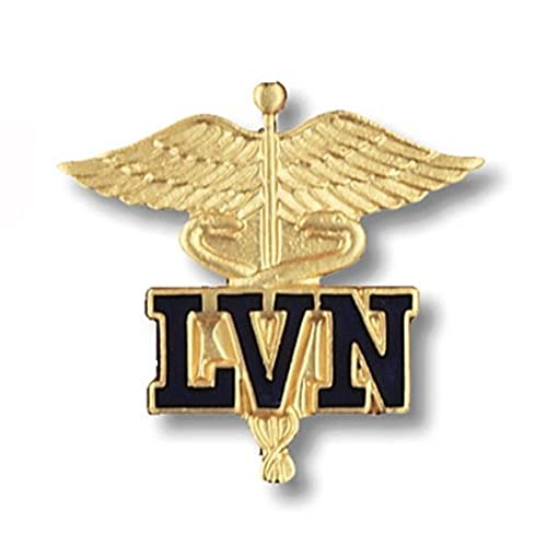 Prestige Medical Emblem Pin, LVN (Letters on Caduceus - California and Texas Only)