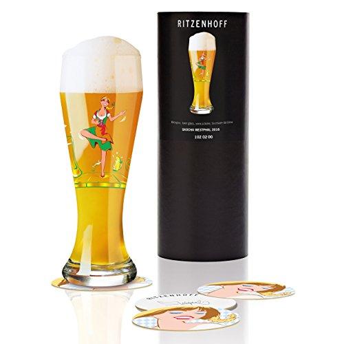 Ritzenhoff tarwe bierglas, glas, meerkleurig, 8,5 cm