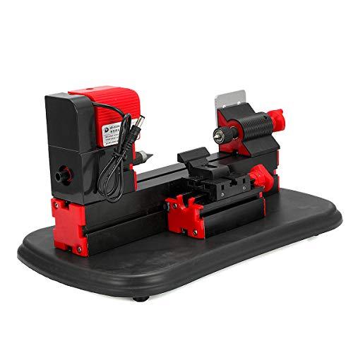 DyNamic Dc12V 36W Mini Gemotoriseerde Metaalbewerking Draaibank Machine Diy Houtbewerking Tool Voor Modelbouw Gong Bed