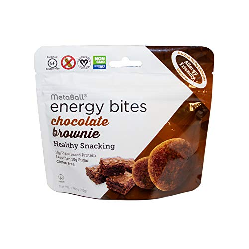 METABALL ENERGY BITES Vegan Allergy Friendly Protein Bites / 10g Plant Based Protein / Gluten Free Snacks / Performance Nutrition / Chocolate Brownie / 10 pack