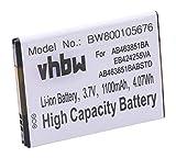 vhbw Batterie Compatible avec Samsung Smiley SCH-M359, Solstice 2 II SGH-A817, SPH-M330 Smartphone (1100mAh, 3,7V, Li-ION)