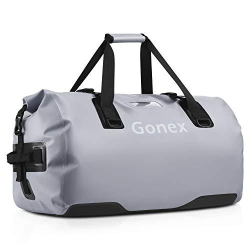 Gonex 40L wasserdichte Reisetasche Rucksack Tasche für Camping Wandern Outdoor Abenteuer,Grau