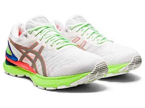 ASICS Men's Gel-Nimbus 22 Lite-Show Running Shoes, 10M, White/Sunrise RED