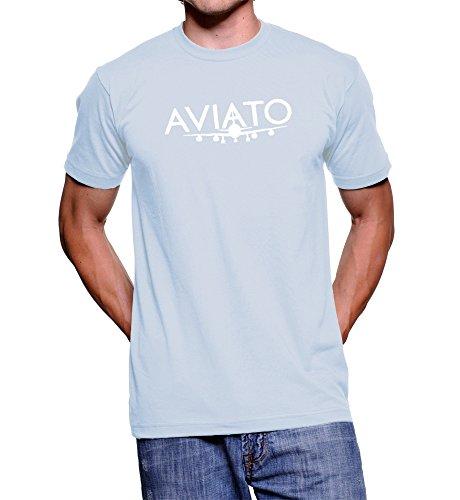 Artbox Silicon Valley Erlich Bachman Aviato-Maglietta con Logo, Colore: Blu Blu Large
