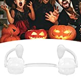 Retractable design, can be adapted to canine teeth and/or incisor teeth or mandibular teeth. Horrifying Halloween fangs, suitable for parties, role‑playing and other occasion. Halloween decoration fangs can make your appearance more horrible and scar...