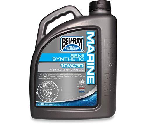 Compatible con aceite marino Semi-Synthetic de 4 tiempos, 4 litros, 10 W30 BEL RAY-99750-BT4.