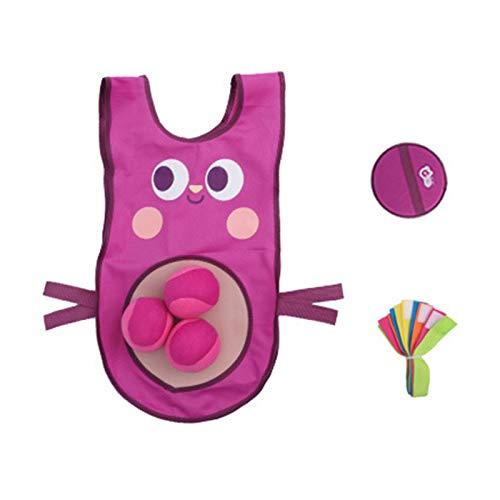 Nrkin Juego de juguetes para lanzar juguetes de tela, chaleco adhesivo para adultos y niños, juguetes al aire libre a partir de 3 años en la playa, parques, jardines