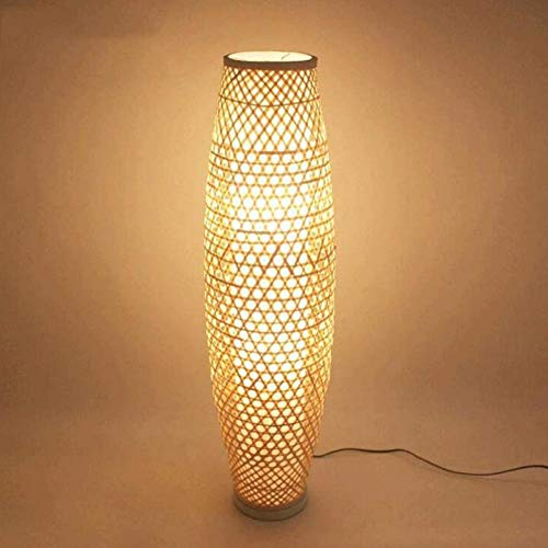 Lámpara de pie Bambú y Ratán Lámpara de ratán de ratán de ratán de ratán Lámpara de arte antiguo asiático asiático Lámpara de arte escandinavo ABAJUR LUMINARIA Lámpara Lámpara de pie 1 / 1.3m,1.3m