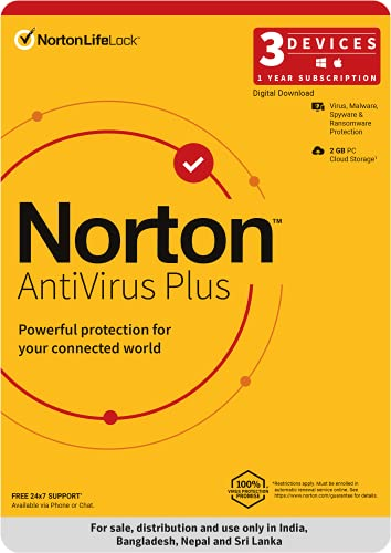 Norton Antivirus Plus   3 Users 1 Year  Includes Smart Firewall & Password Manager   PC or Mac   Code emailed in 2 hrs.