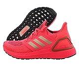 adidas Women's Ultraboost 20 Running Shoe, Signal Pink/copper/black, 11 B (M)