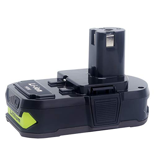 18V 3.0Ah Lithium Battery P108 Replacement for Ryobi 18V Battery P102 P103 P104 P105 P107 P108 P109 P161 P190 Compatible with Ryobi 18V One+ Power Tools
