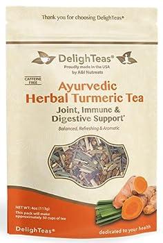 Ayurvedic Anti-Inflammatory tea - Organic loose leaf Turmeric Tea with Ginger Lemongrass and Licorice  loose tea 4 oz
