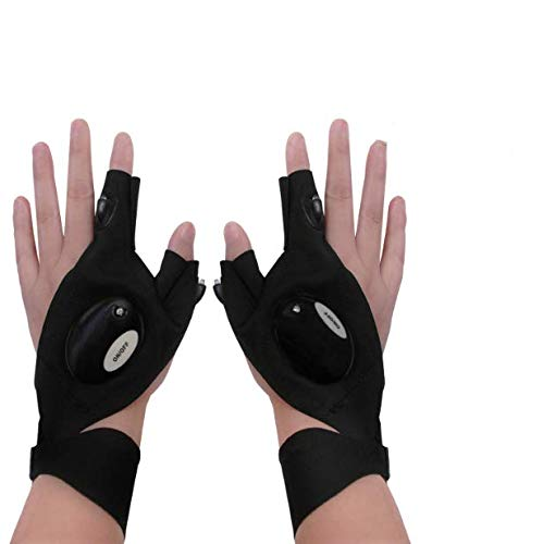 Gifts for Mom Dad ,Gloves Flashlight,Cool Gadgets for Men,Work Gloves with Lights,Use for Camping, Fishing,Night Work ,Tools Gifts for Men,Him,Dad,Father,DIY Electrician,Husband,Boyfriend