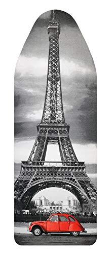 Bügelbrettbezug, Städte, Große und mittlere, 100% Baumwolle, 5 mm Schaumstoff-Polsterung (Paris, 144x44)