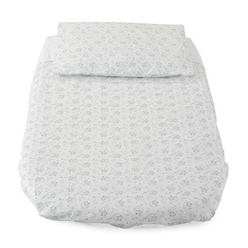 Chicco - Juego de sábanas para cuna de 3 piezas, Baby Hug Foxy, color blanco