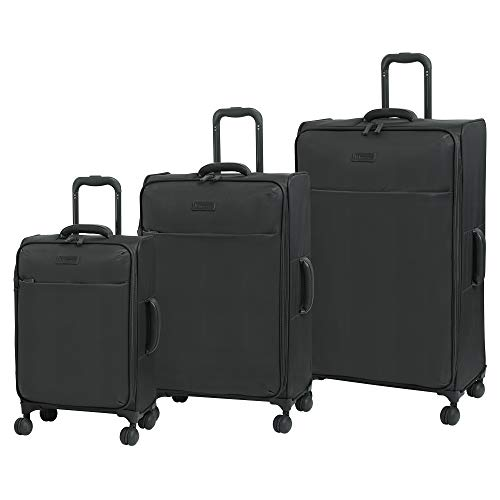 it luggage Lustrous Lightweight Expandable Spinner Wheels, Charcoal, 3-Piece Set (22/28/32)