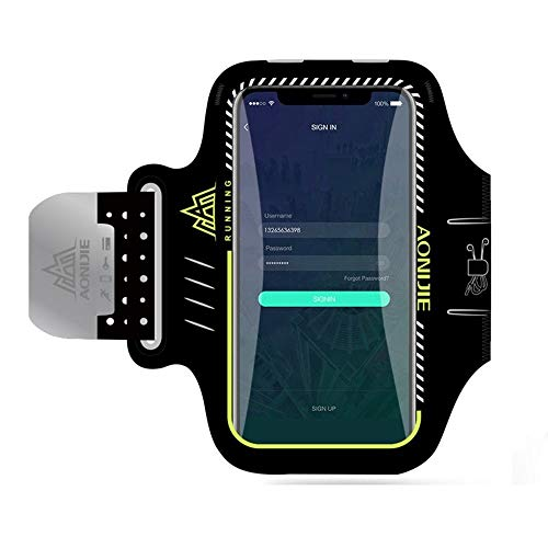 DFVmobile - Professional Cover Neoprene Armband Sport Walking Running Fitness Cycling Gym for Leagoo Lead 3 - Black