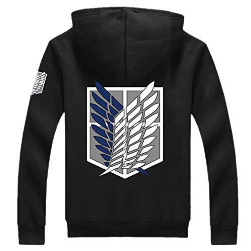 Mesky EU L'Attaque des Titans Sweat-Shirt Epais à Capuche Armée d'investigation Aile de la liberté Attack on Titan Shingeki No Kyojin Scouting Legion Automne Printemps Hoodie Pull