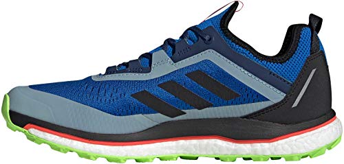 adidas Terrex Agravic Flow, Men's Sports Shoes, Glory Blue / Core Black / Signal Green, 43 1/3 EU