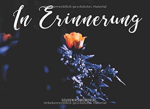 In Erinnerung: Begräbnis-Gästebuch (Gelbe Rose in der Nacht)