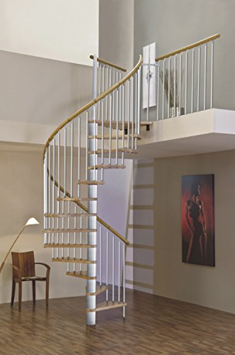 Ahorro de espacio en el interior del husillo escalera escalera de caracol Merdi diámetro 120 cm
