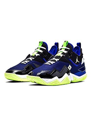 Jordan Westbrook One Take Blue Glow, Mehrfarbig - Schwarz, Grün, Blau (Black / Barely Volt / Hyper Royal) - Größe: 44.5 EU