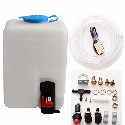 ILS 12V 1.8 L Universal Motorcycle Car Wind Shield Washer Reservoir Pomp Bottle Kit Jet Switch