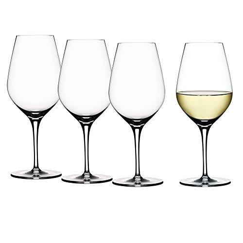 Spiegelau & Nachtmann, 4-teiliges Weißweinglas-Set, Kristallglas, 420 ml, Authentis, 4400182