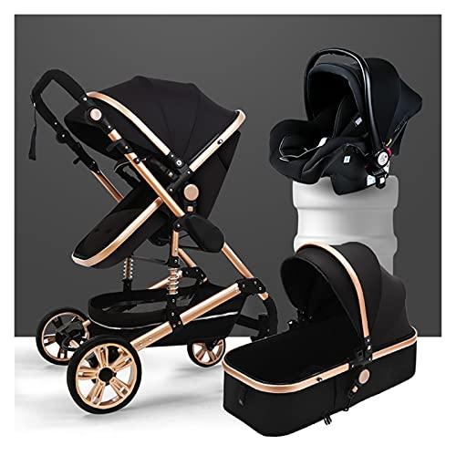 Combo de asiento de coche de cochecito, cochecitos y cochecitos ajustables, cochecito de bebé recién nacido, cochecito de cochecito de lujo, muelles de absorción de choque de...