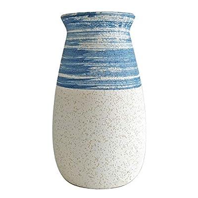 Senliart Clay Vase, Blue and White Flower Vase, Decorative Ceramic Vases