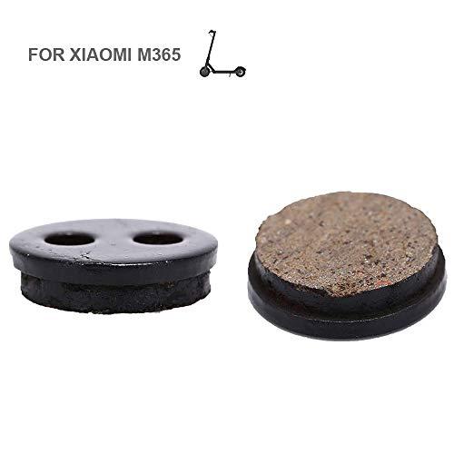 Flycoo E-Scooter M-33 - 2 almohadillas semimetálicas para Xiaomi M365, pastillas de freno para discos, color negro