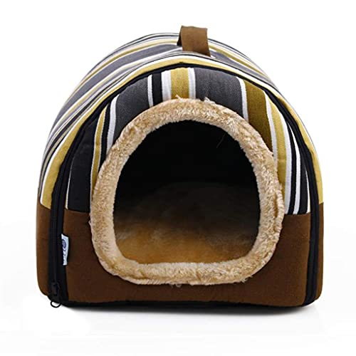 LXYPLM Hundebett Katzenbett Haustiermatratze Deluxe Haustierbett 2-in-1-Haustierhaus und Sofa Rutschfeste Hundekatzen-Iglu-Betten Abnehmbarer waschbarer Bezug Haustierdecke Weiches Haustier-Schlafsofa