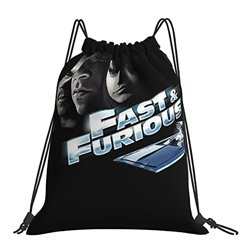 Fast Fu-rious - Mochila con cordón, impermeable, para baloncesto, deportes, gimnasio, viaje, playa, para adolescentes, unisex, niños, niñas, hombres y mujeres