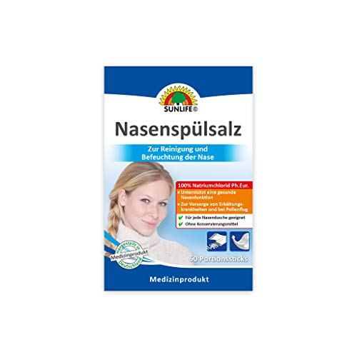 SUNLIFE Nasenspülsalz und Sunlife Einkaufswagenchip (60 Sticks)
