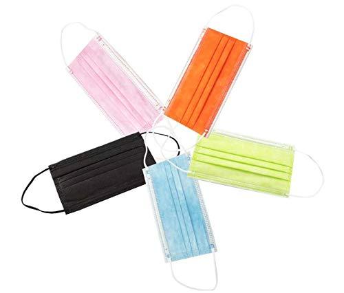 Mascarillas Higiénicas Colores Desechables 3 Capas Adultos 50 Unidades C5