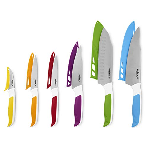 Zyliss E9, Kunststoff, Coffret 6 couteaux