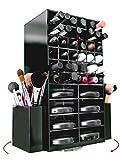 Organizador rotatorio N2Makeup Co de maquillaje, con soportes para brochas de...